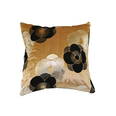 Heritage Luxurious Vintage Pillow Cover Color: Gold
