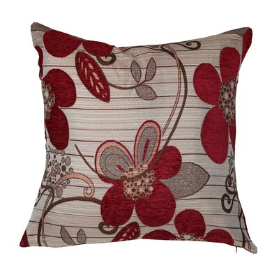 Sunflower Luxurious Pillow Cover Color: Burgundy