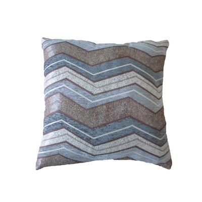 Indiana Chenille Luxurious Throw Pillow Color: Gray
