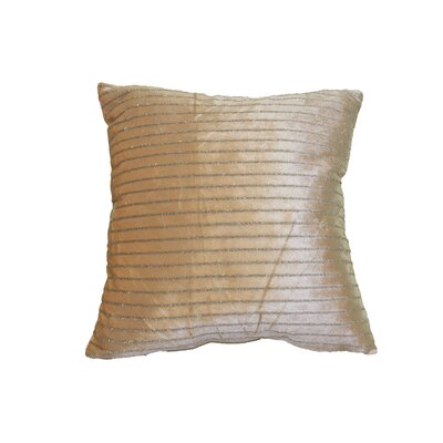 Velveteen Luxurious Vintage Pillow Cover Color: Gold