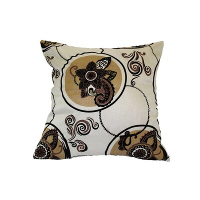 Tivoli Flock Luxurious Vintage Throw Pillow Color: Beige