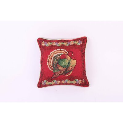 Thanksgiving Happy Fall Tapestry Turkey Pillow Cover