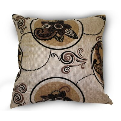 Tivoli Flock Luxurious Vintage Throw Pillow Color: Gold
