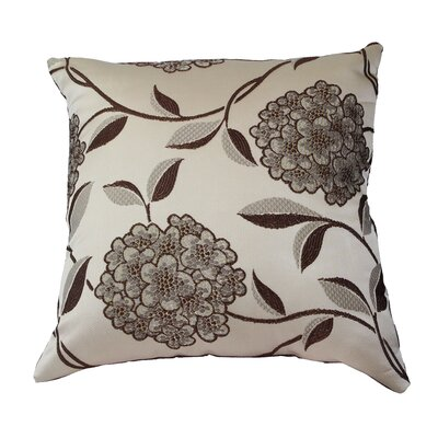 Venetian Luxurious Throw Pillow Color: Brown
