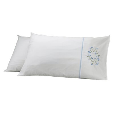 Elegant Pillow Cover Color: Beige/Blue