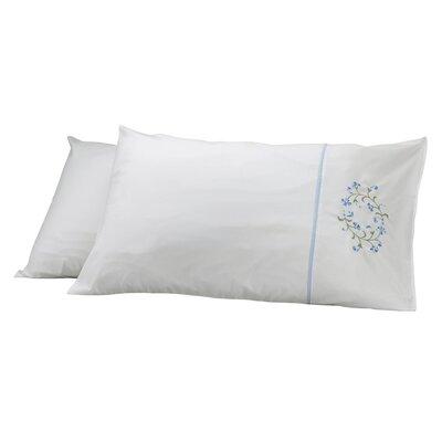 Elegant Pillow Cover Color: Beige/Blue