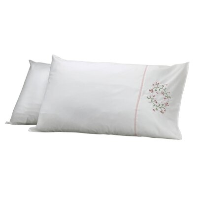 Elegant Pillow Cover Color: Beige/Pink
