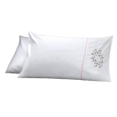 Elegant Pillow Cover Color: White/Pink