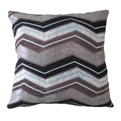 Indiana Chenille Luxurious Pillow Cover Color: Brown