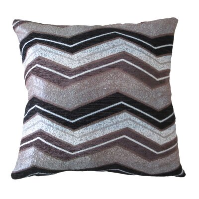 Indiana Chenille Luxurious Throw Pillow Color: Brown