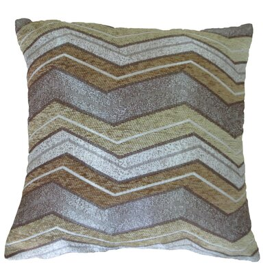 Indiana Chenille Luxurious Throw Pillow Color: Gold