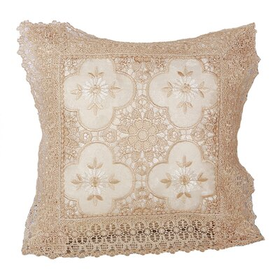 Braided Luxurious Decorative Lace Cutwork Throw pillow Color: Ivory