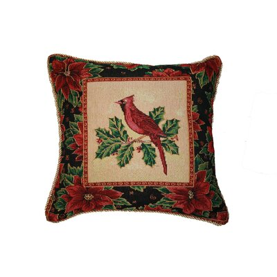 Christmas Cardinal Design Throw Pillow