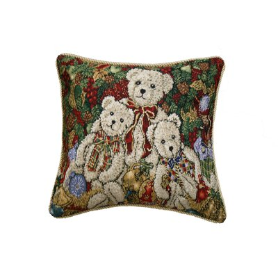 Seasonal Bear Design Pillow Cover