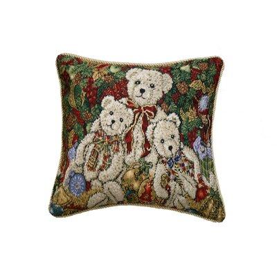 Seasonal Bear Design Pillow Cover