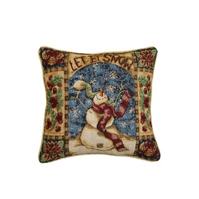 Seasonal Snow Man Design Pillow Cover