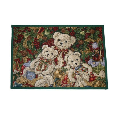 Seasonal Bear Design Novelty Rug Rug Size: 17 x 23