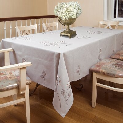 Hydrangeas Embroidered Flower Tablecloth VL Hydrangeas TC-20538-5