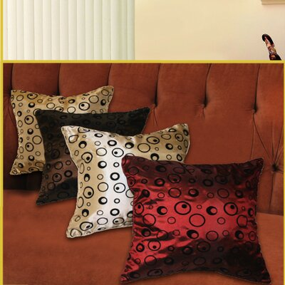 Silky Bombay Design Pillow Cover Color: Gold