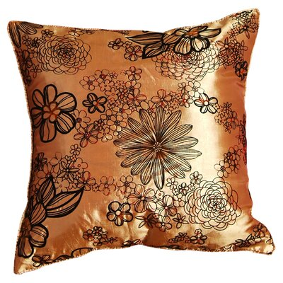 Silky Bloom Design Throw Pillow Color: Gold