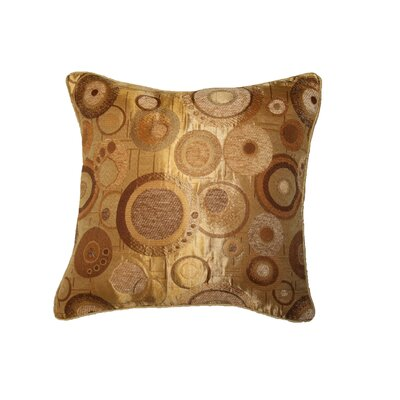 Chenille Candy Decorative Throw Pillow Color: Gold