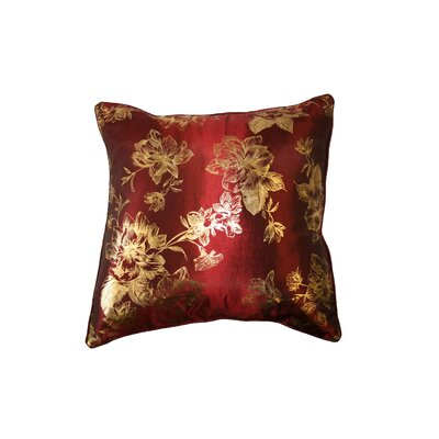 Silky Heritage Decorative Throw Pillow Color: Burgundy