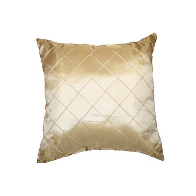 Silky Checks Decorative Throw Pillow Color: Beige