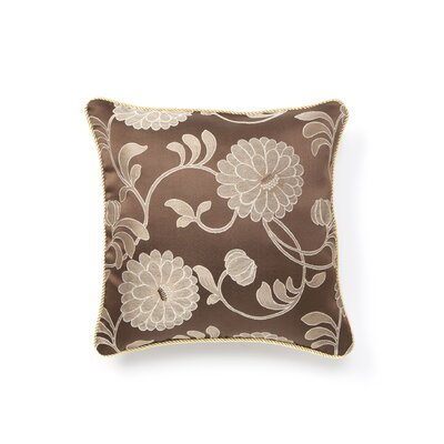 Legacy Damask Design Decorative Pillow Cover Color: Brown