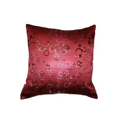 Chateau Jacquard Circles Pillow Cover Color: Burgundy