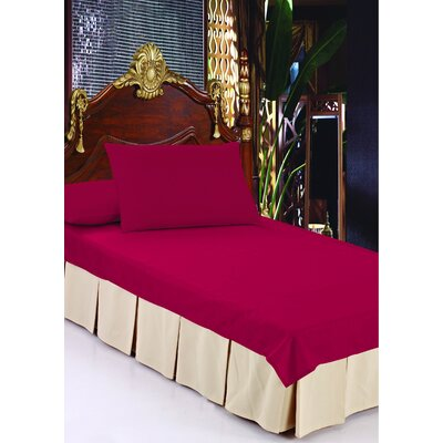 Double Pleats Luxurious Bed Ruffle Color: Cream, Size: Twin 48