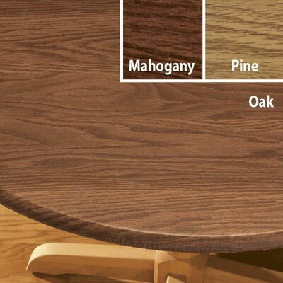 Woodgrain Elastic Table Cover Size: Small, Finish: Mahogany
