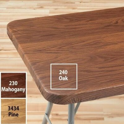 Woodgrain Elastic Table Cover Finish: Oak