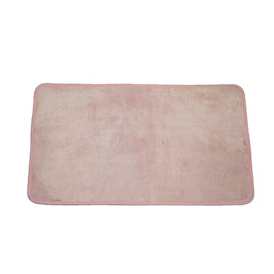 Microfiber Absorbing Bath Mat Bathroom Rug Size: Runner, Color: Pink