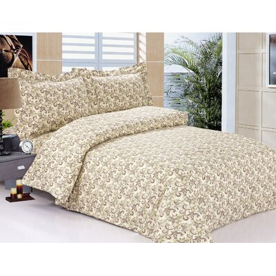 French Lilies Luxurious 6 Piece Duvet Cover Set Size: 48