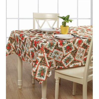 European Christmas Poinsettia Tablecloth