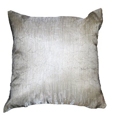 Eden Lace Tafetta Nittle Mesh Throw Pillow Color: Silver