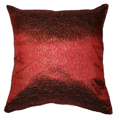 Monte Carlo Tafetta Nittle Mesh Lace Pillow Cover Color: Burgundy