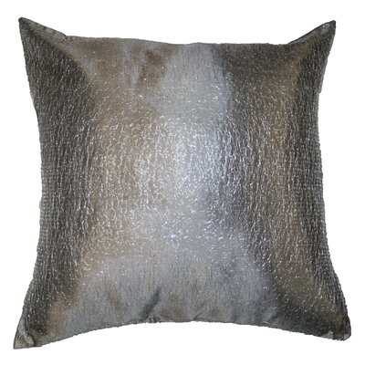 Monte Carlo Tafetta Nittle Mesh Lace Pillow Cover Color: Silver