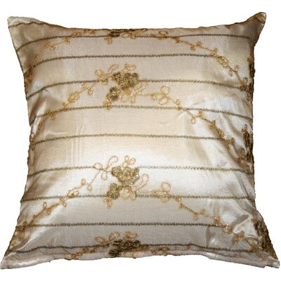 Swiss Embroidered Lace Decorative Throw Pillow Color: Ivory