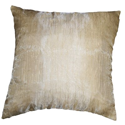 Eden Lace Tafetta Nittle Mesh Cover Pillow Color: Gold