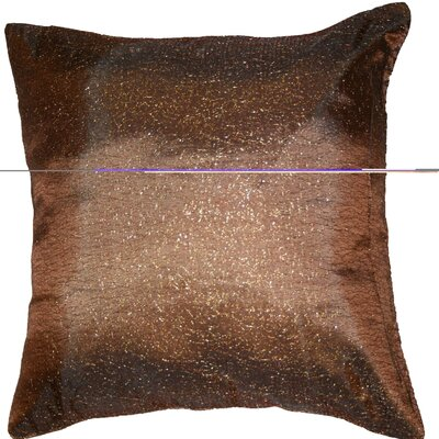 Monte Carlo Tafetta Nittle Mesh Lace Throw Pillow Color: Brown