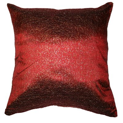 Monte Carlo Tafetta Nittle Mesh Lace Throw Pillow Color: Burgundy