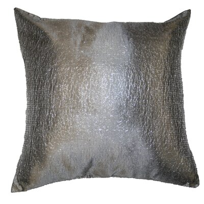 Monte Carlo Tafetta Nittle Mesh Lace Throw Pillow Color: Silver