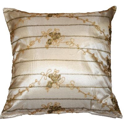 Swiss Embroidered Lace Decorative Pillow Cover Color: Ivory