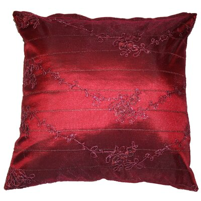 Swiss Embroidered Lace Decorative Pillow Cover Color: Burgundy
