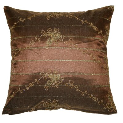 Swiss Embroidered Lace Decorative Pillow Cover Color: Brown