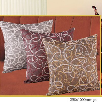 Classic Damask Design Jacquard Decorative Pillow Cover Color: Burgundy