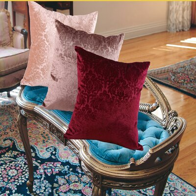 Vintage Damask Decorative Throw Pillow Color: Peach