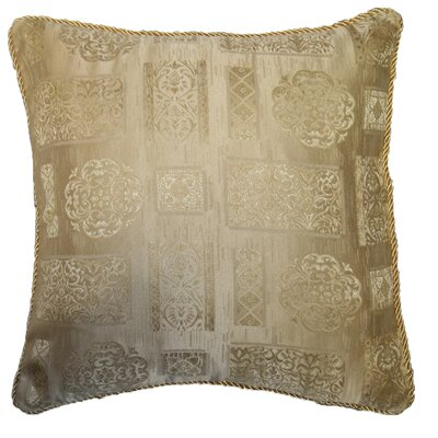 Premium Damask Vintage Decorative Throw Pillow Color: Gold