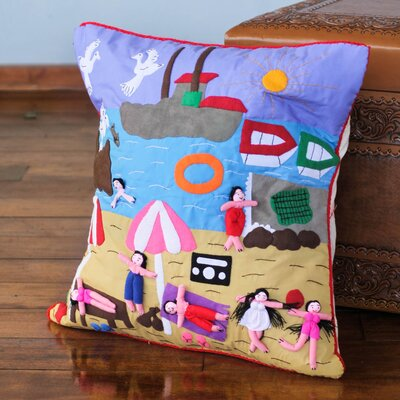 Summer Fun Applique Pillow Cover